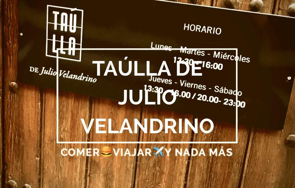 Taúlla de Julio Velandrino