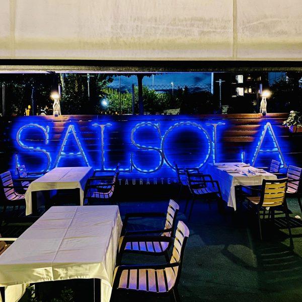 Restaurante Salsola Murcia, gloriosa chuleta en su terraza