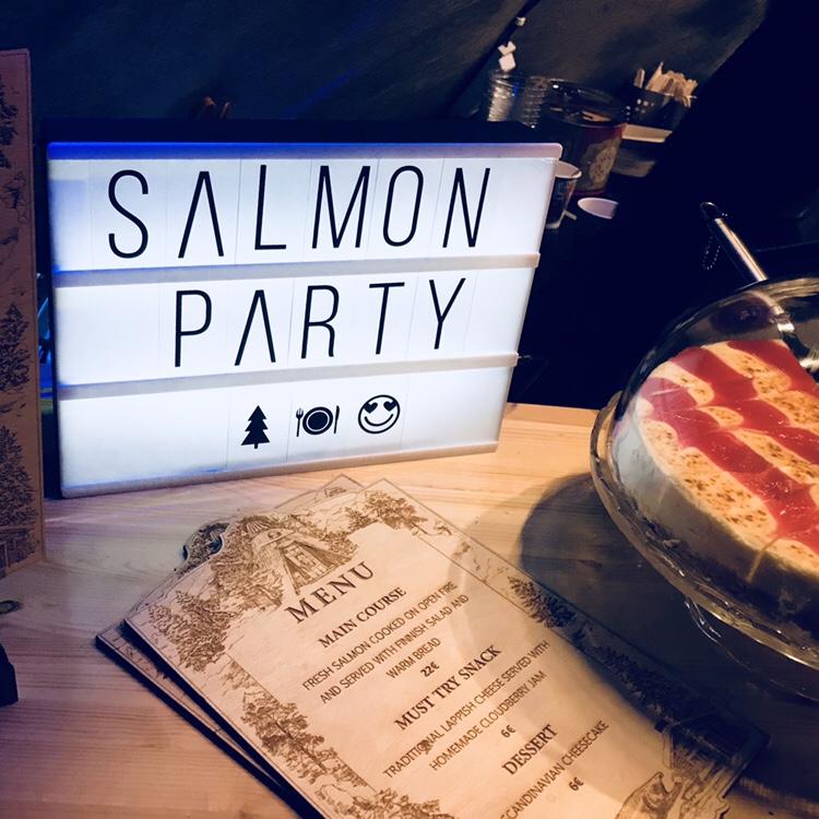 carta santas salmon comer en rovaniemi