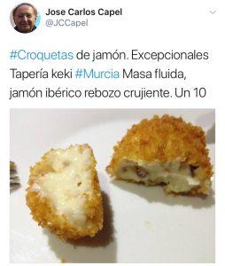 Mejores restaurantes Murcia croquetas Keki