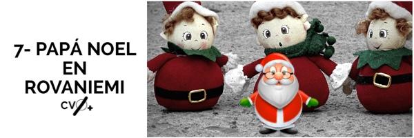 Papá Noel en Rovaniemi Laponia en Navidad